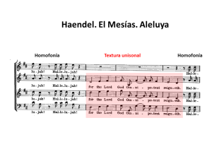 Homofonía textura unisonal