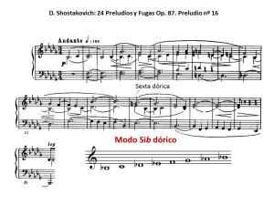 Dórico Shostakovich prelud 16