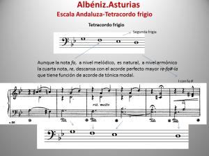 Frigio tetracordo Albéniz Arturias