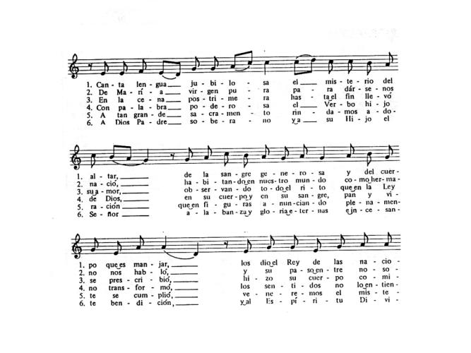 Pange Lingua música y traducción