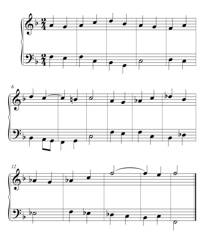 Ejemplo 1 Bajo y melodía